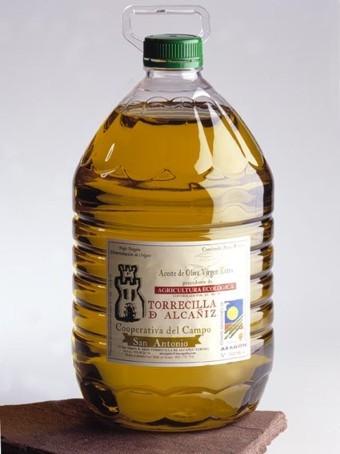 Garrafa de aceite de oliva ecológico del Bajo Aragón