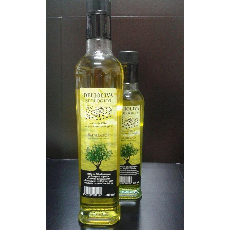 "Aceite de oliva ecológico ""Delioliva"" cristal"