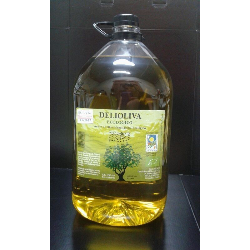 Aceite de oliva ecológico Delioliva  5 litros