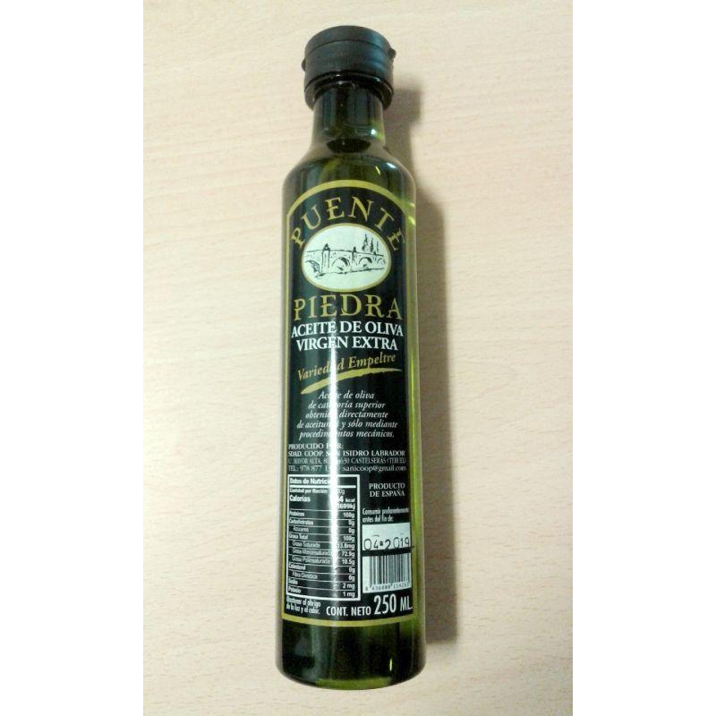 """Aceite de oliva virgen extra """"Puente de Piedra"""" 1/4 l."""