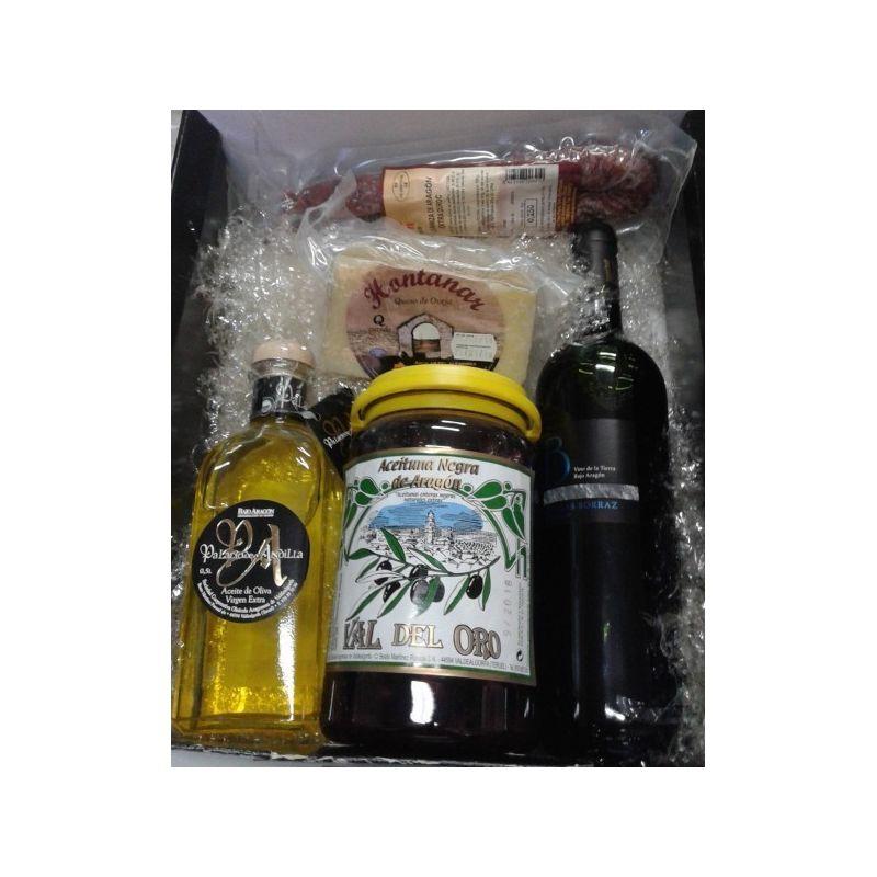 vino, embutidos, queso, aceitunas y aceite de oliva