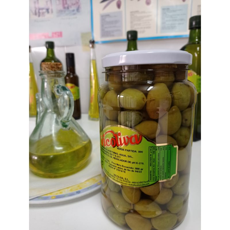 oliva verde partida vicoliva 800 gramos