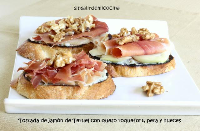 Tostada de  jamón de Teruel